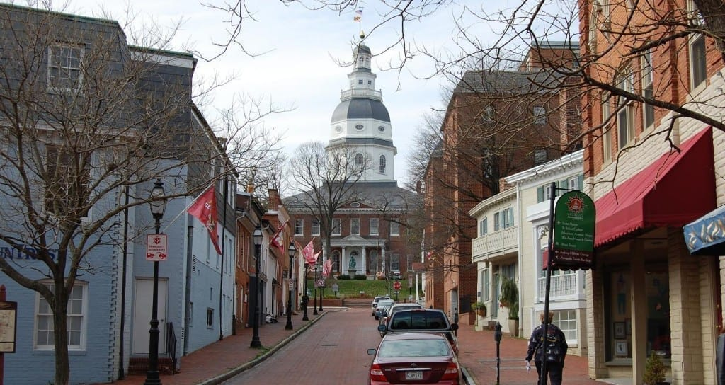 Downtown Historic Annapolis Capital building